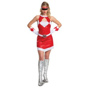 Red Ranger Mm Female Deluxe Adult