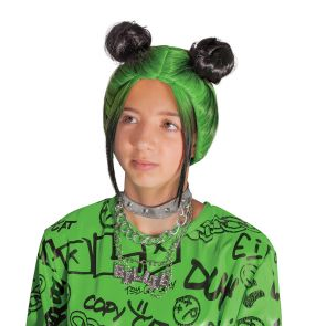 Billie Eilish  Double Bun Wig - Green