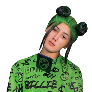Billie Eilish  Double Bun Wig Adult - Green
