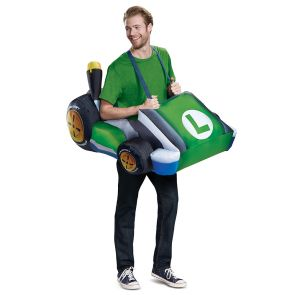 Luigi Kart Inflatable Adult Costume