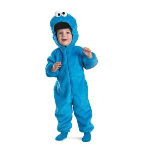Cookie Monster Deluxe Two-Sided Plush Jumpsuit