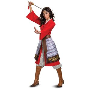 Mulan Hero Red Dress Deluxe Adult