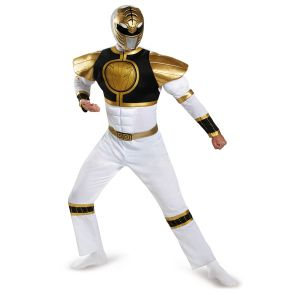 White Ranger Classic Muscle Adult