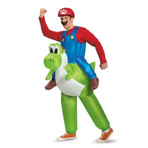 Mario Riding Yoshi Inflatable Adult