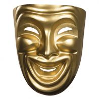 Gold Comedy Adult Mask